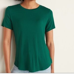 Old Navy Luxe Teal T-Shirt Tunic Knot Detail